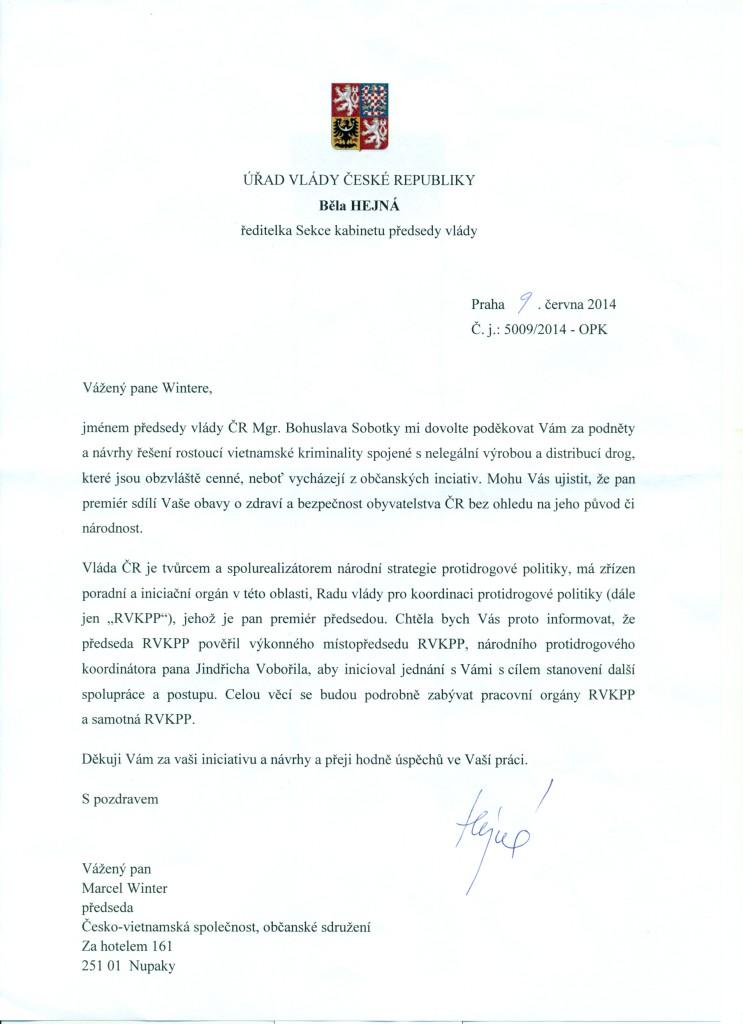 PODEKOVANI_PREMIERA_CR_PREDSEDOVI_CVS