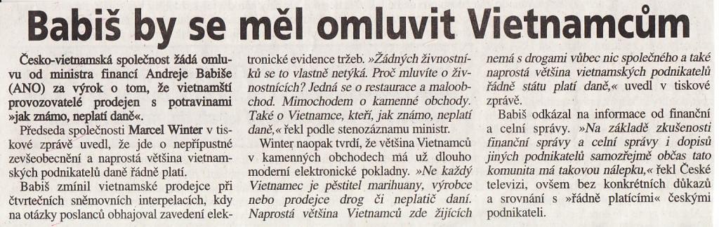 Deník Haló noviny 18.3.2015