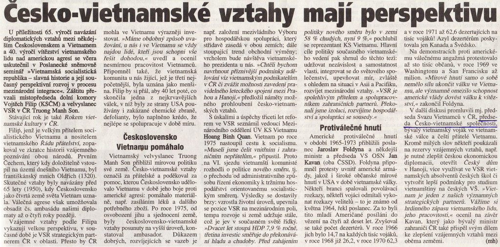 Akce v Parlamentu ČR 20.4. 2015