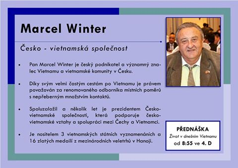 Marcel Winter přednášel 19.4. na Škole mezinárodních a veřejných vztahů v Praze