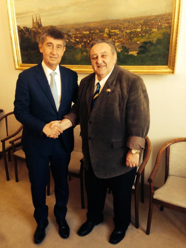 Ministr financí ČR Ing. Andrej Babiš a předseda ČVS Marcel Winter - 20. 3. 2015