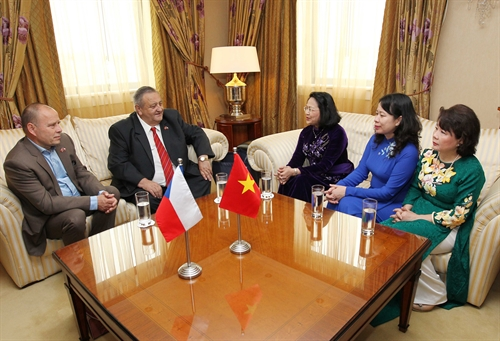Přijetí u paní víceprezidentky Vietnamu
